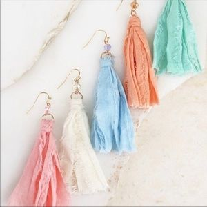 ✨LAST TWO✨Fabric Tassel Earrings 💕